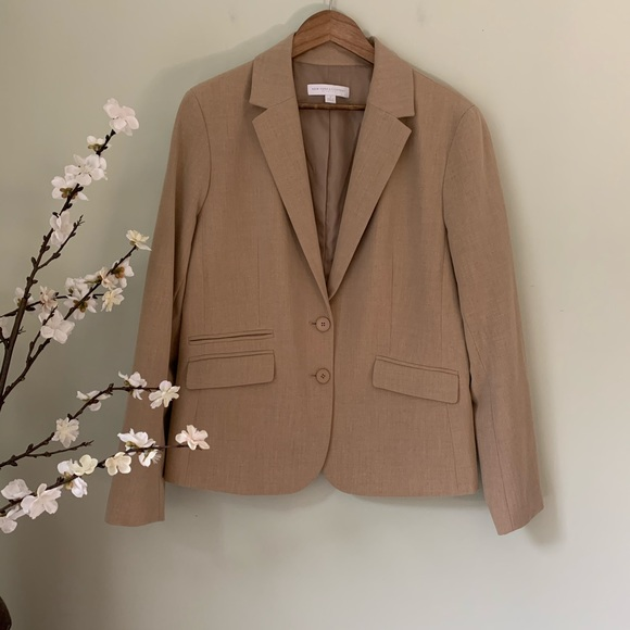 New York & Company Jackets & Blazers - New York and Company Beige Blazer NWOT Size 18